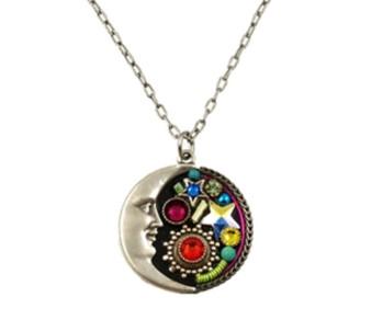 Midnight  Moon Pendant Necklace