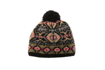 Handmade knit pattern hats with pompoms by French Knot