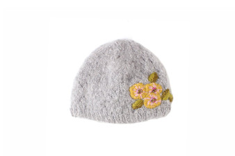 Handknit and embroidered hat by French Knot