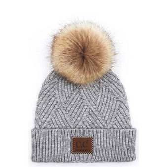cc Beanies heathered beanie with patch