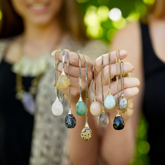 Bella Vita zara necklace -  semiprecious stones on simple chain