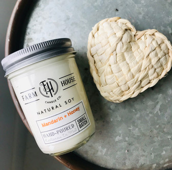 Candle Jar - Mandarin + Honey