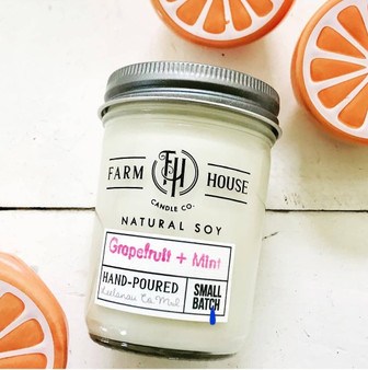 Candle Jar - Grapefruit + Mint