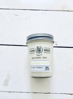 Candle Jar - Lemongrass + Verbena