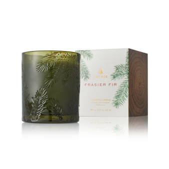 Thymes - Frasier Fir candle in molded green glass