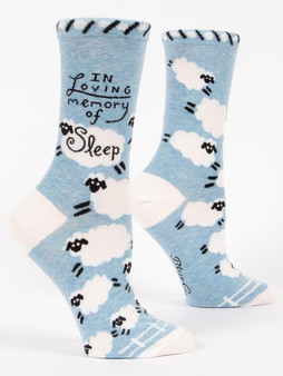 Blue Q socks - in memory of sleep