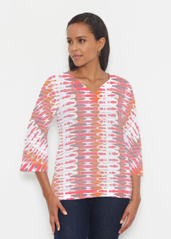 Ink Blot Pink Banded Tunic