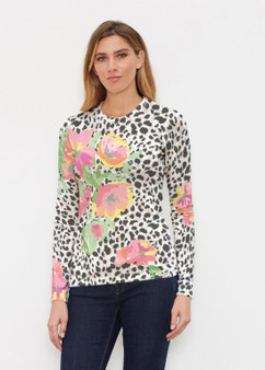Spring Leopard Knit Top