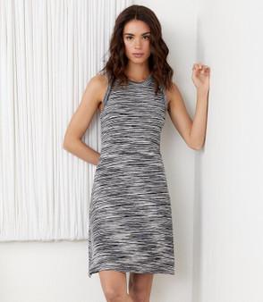 2L57096 Karen Kane space dye halter dress