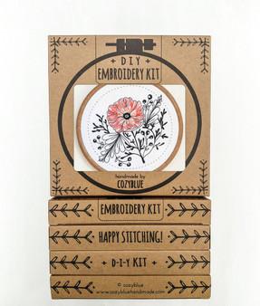 Embroidery Kit - Poppy Power