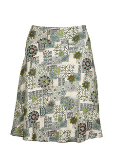 Flippy Skirt -  Floral Graphic Neutral