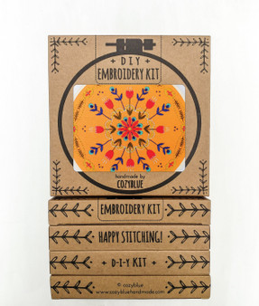 Embroidery Kit - Tangerine Mandals