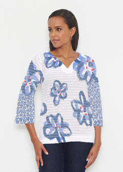 Painted Blooms Banded Tunic