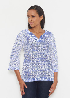 Oh Stamped Banded Tunic