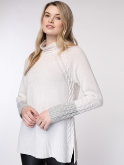 Alpine Contrast Cable Pullover