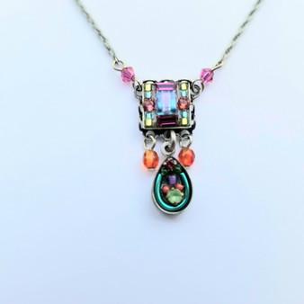 Petite Mosaic Square Necklace