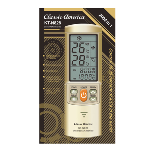 Universal Mini Split AC Remote KT-N828 - Gold