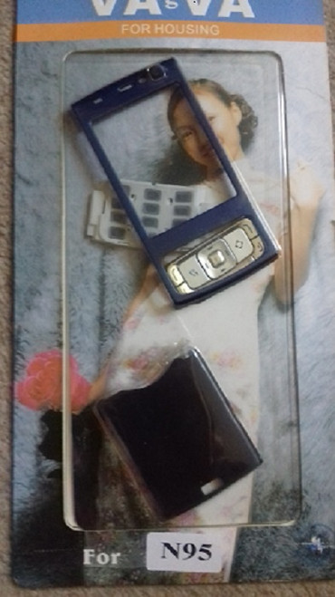 Navy Full Housing Cover and Keypad for Nokia N95