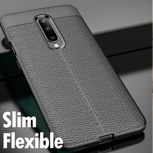 One Plus 7 Pro Black ShockProof Hybrid Case Cover
