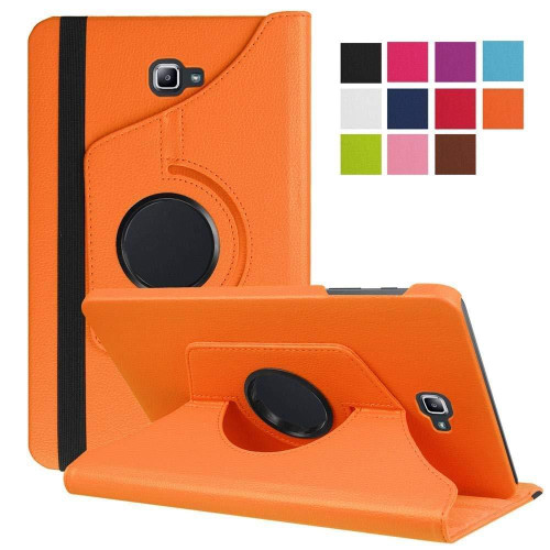 Orange PU Leather 360 Rotating Case for Samsung Galaxy Tab 3 8.0 (T310/T311)