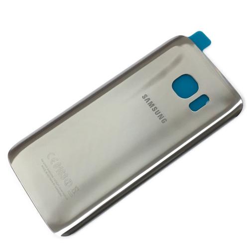 Original Silver Titanium Back Battery Cover Glass For Samsung Galaxy S7 Edge