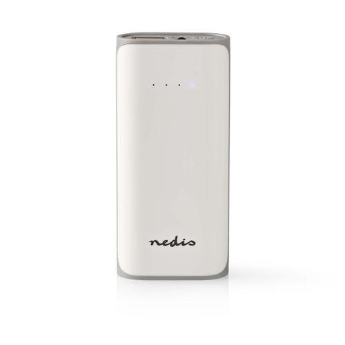 Power Bank | 5000 mAh | 1-USB-A output 1.0A | Micro USB input | White