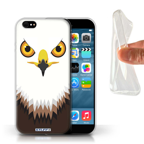 Protective Gel/TPU Case for Apple iPhone 6/6S / Animal Faces Collection / Hawk/Eagle
