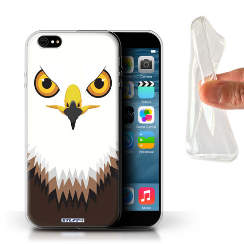 Protective Gel/TPU Case for iPhone 6+/Plus 5.5 / Animal Faces Collection / Hawk/Eagle