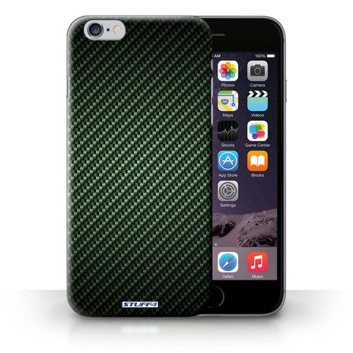 Protective Hard Back Case for iPhone 6+/Plus 5.5' / Carbon Fibre Effect/Pattern Collection / Green