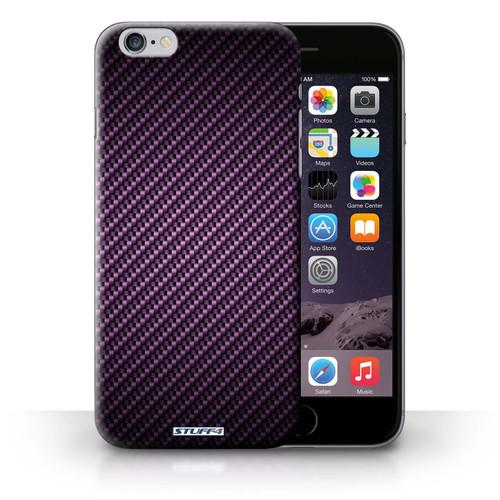 Protective Hard Back Case for iPhone 6+/Plus 5.5' / Carbon Fibre Effect/Pattern Collection / Purple