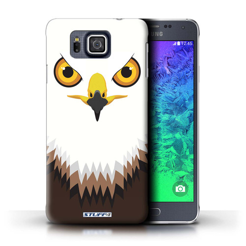 Protective Hard Back Case for Samsung Galaxy Alpha / Animal Faces Collection / Hawk/Eagle