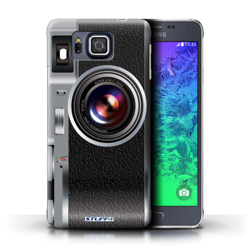 Protective Hard Back Case for Samsung Galaxy Alpha / Camera Collection / Vintage