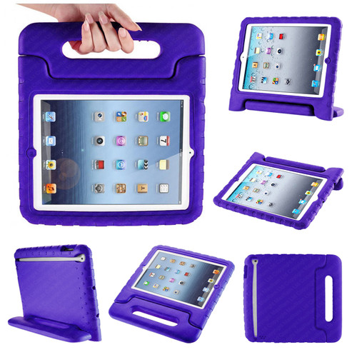 Purple Extra Protection Bumper Shock-Proof Shell Case for iPad 2/3/4