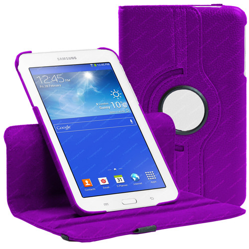 Purple PU Leather 360 Rotating Case for Samsung Galaxy Tab 3 7.0 LITE (T110/T111)