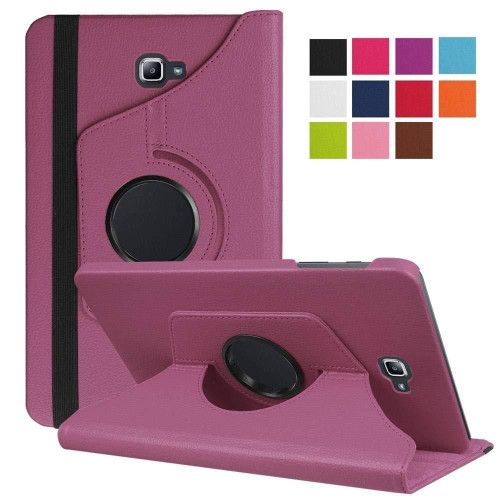 Purple PU Leather 360 Rotating Case for Samsung Galaxy Tab 3 8.0 (T310/T311)