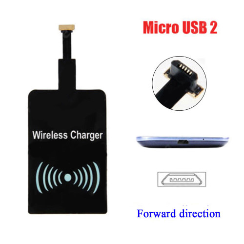 Qi Wireless Charger Narrow side Face Up Receiver for Sasmsung or Android Smart Phone