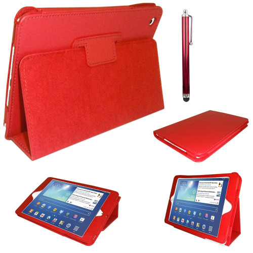 Red PU Leather Magnetic Case for Samsung Galaxy Tab 3 8 (T310/T311)