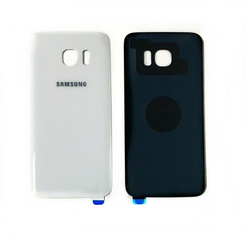 Replacement White Pearl Back Battery Cover Glass For Samsung Galaxy S7