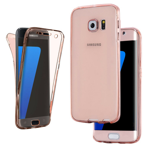 s7edge rose gold gel full body case