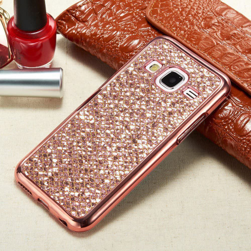 Samsung Galaxy  Bling Shockproof Glitter Silicone Back Rose Gold Case