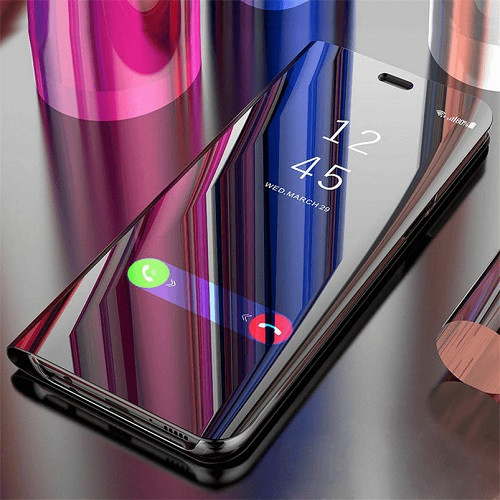 Samsung Galaxy  J3 2018  Smart Clear Mirror Leather Stand Case