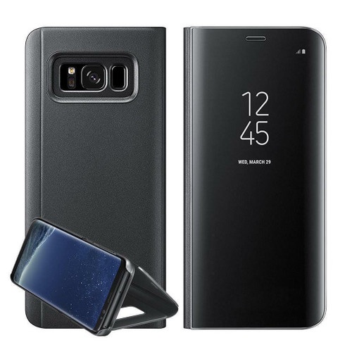 Samsung Galaxy  S10  Smart Black Mirror Leather Stand Case
