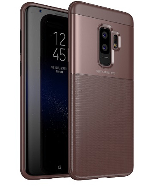 Samsung Galaxy  S9  Luxury 360 Shockproof Hybrid Case Brown