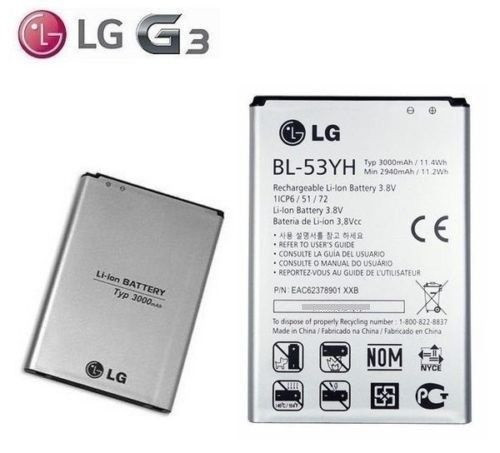 BL-53YH  Replacement  Battery 3000mAh 3.8V For LG G3 D855 2018