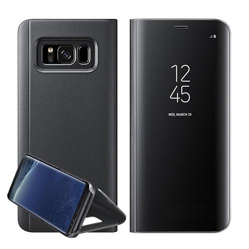 Samsung Galaxy Note 8 Flip Mirror Stand Case Black