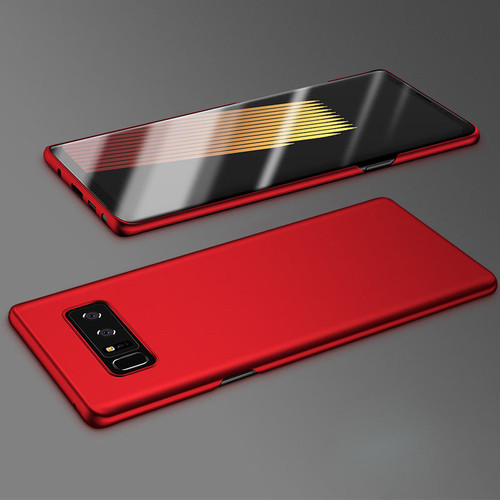 Samsung Galaxy Note 8 Red Bumper Case & Screen Protector