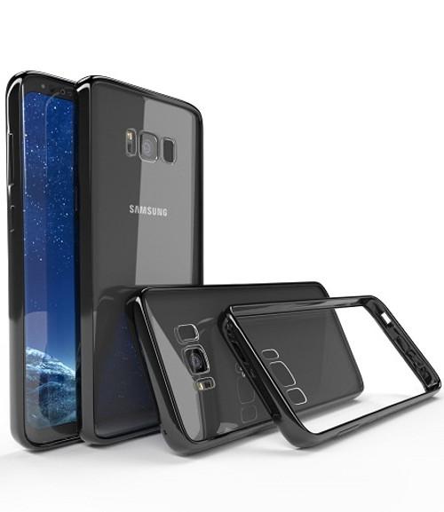 Samsung Galaxy Note 9 Shockproof TPU Bumper Gel Crystal Clear Black Case Cover