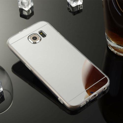 Samsung Galaxy Note3 Ultra-thin Silver Silicone Mirror Case