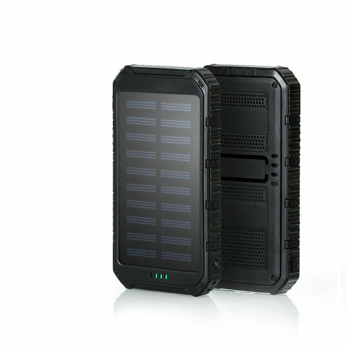 Apple Iphone and samsung   Black 50000mAh Solar Power Bank LED 2USB Battery Charger