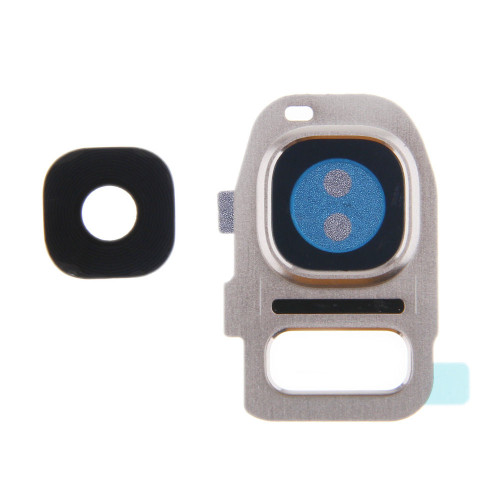 Samsung Galaxy Replacement S7 Camera Lens Cover Glass Frame- Silver